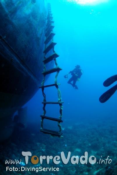 Relitto Torre Vado - immersioni subacquea