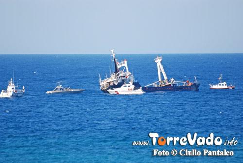 Cargo turco prima dell'affondamento