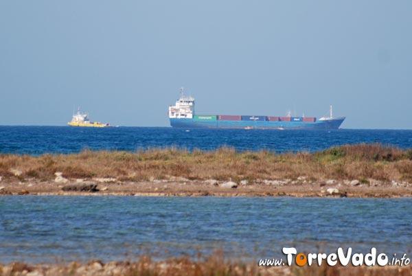 nave incagliata sulle secche di Ugento