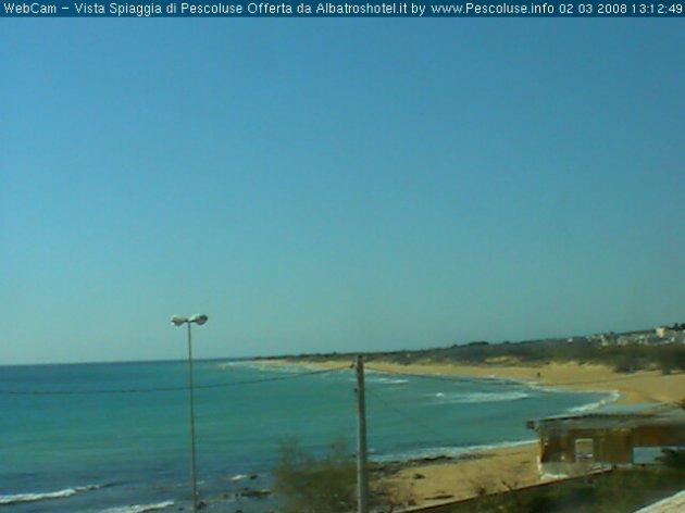 WebCam con vista verso la spiaggia di Pescoluse