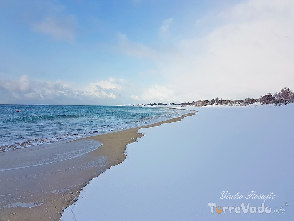 neve spiaggia salento