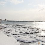 nevicata spiagge puglia