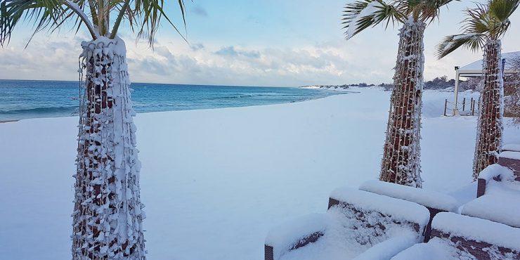 spiaggia lido venere innevata