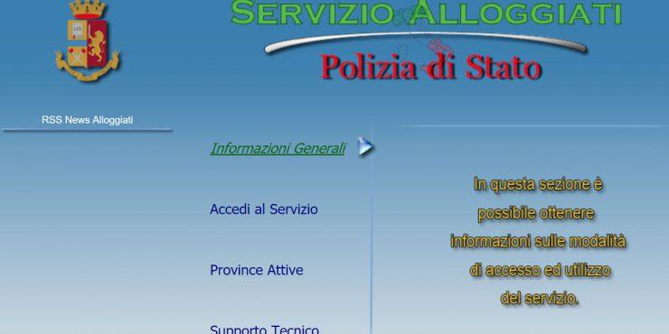AlloggiatiWeb Polizia di Stato