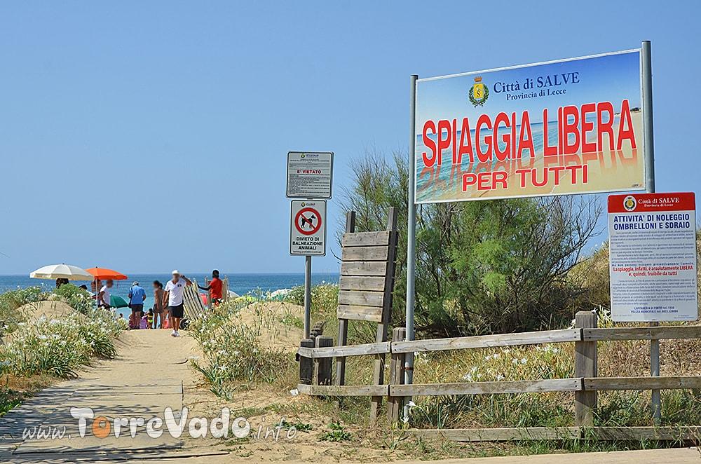 Spiaggia Libera Posto Vecchio Pescoluse