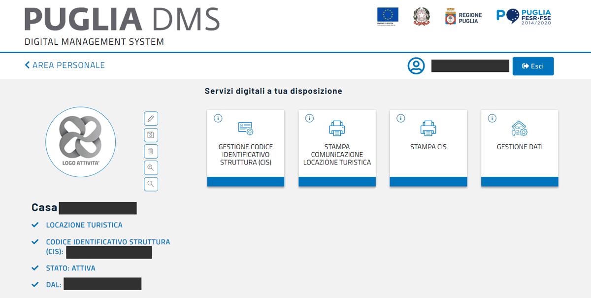 Puglia DMs CIS gestione alloggio