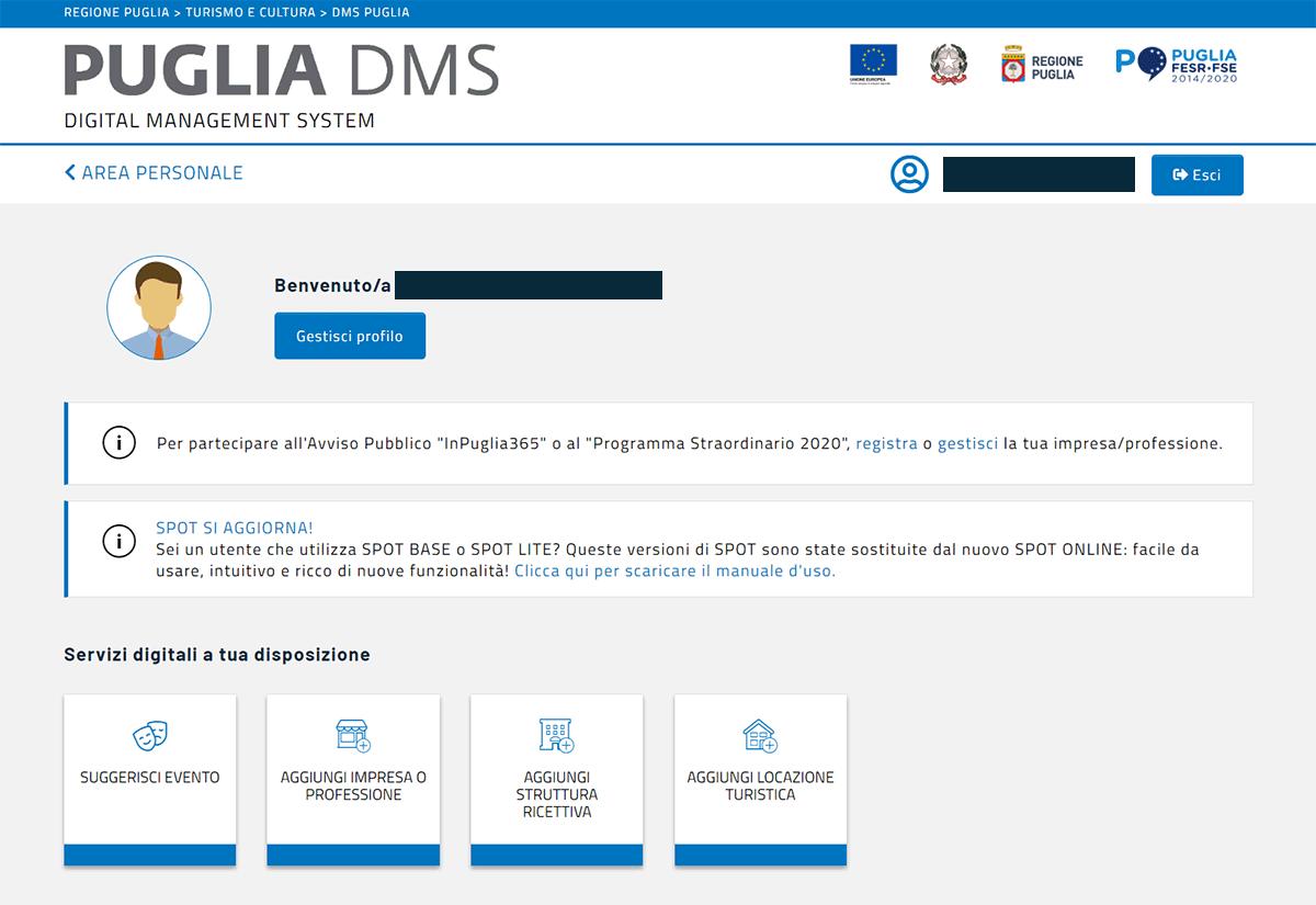 Cis Puglia, DMS Accesso