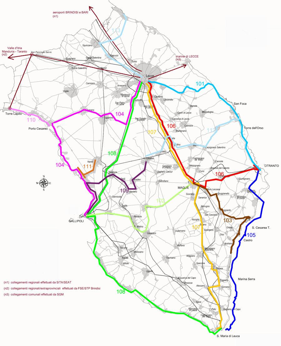 Cartina Aeroporti Puglia.Salento In Bus 2021 Linee E Orari Autobus Nel Salento Torrevado Info
